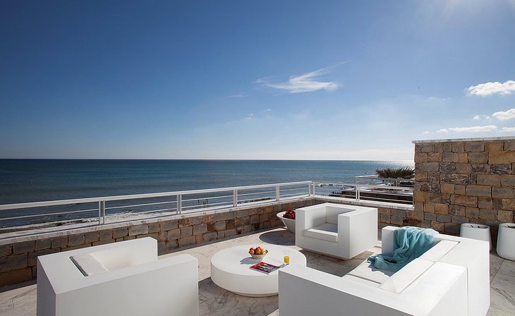 Beachfront houses of Casares