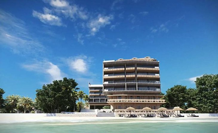 Apartments on the Caribbean beach of Puerto Morelos, Riviera Maya