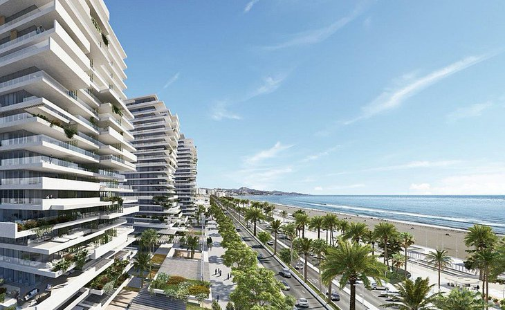 Luxurious homes in luxurious beachfront building in Malaga