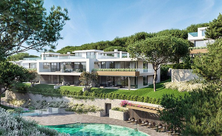 Low houses with garden and penthouses with solarium in Marbella